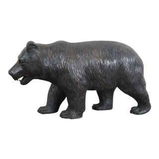 Theodore Alexander Bronze Bear Statue Sculpture For Sale