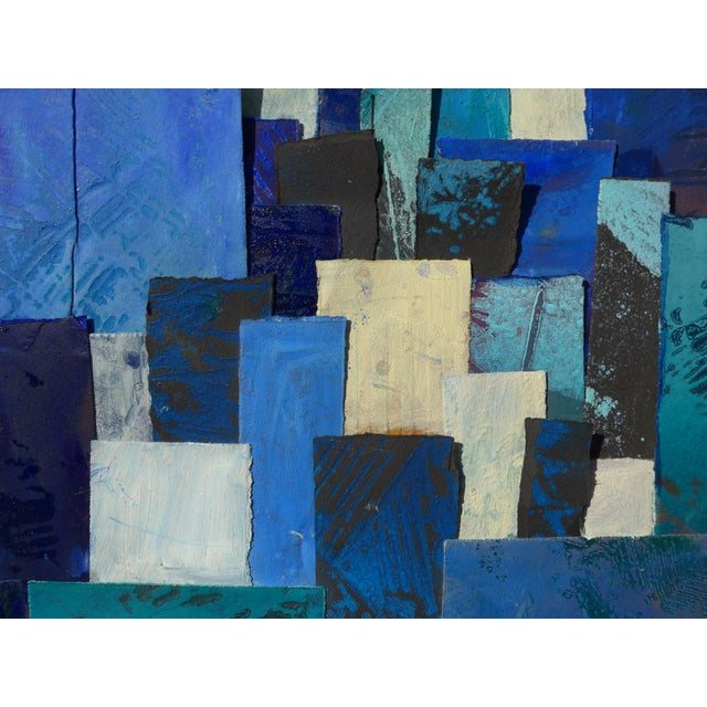 Abstract Blue Tapestry For Sale - Image 3 of 8