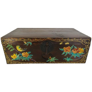 19th Century Hand-Painted Korean Trunk For Sale