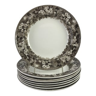 19th-C. Wedgwood Luncheon Plates, S/8 For Sale