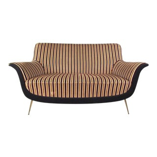Exquisite Italian Modern Loveseat after Marco Zanuso For Sale
