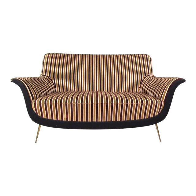 Exquisite Italian Modern Loveseat after Marco Zanuso - Image 1 of 11