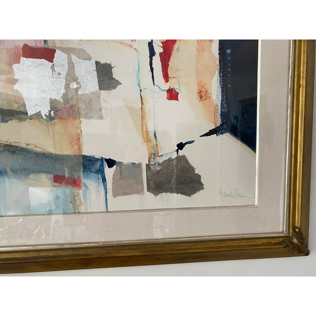 Pencil Vintage Harold Larson Painting Abstract Mixed Media Collage For Sale - Image 7 of 13