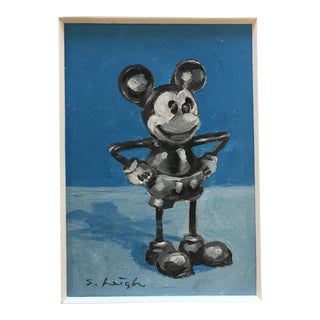 Heigh Miniature Original Mickey Mouse Painting For Sale