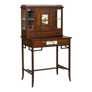 Circa 1880s English Desk Cabinet Bonheur Du Jour in Japanese Taste For Sale