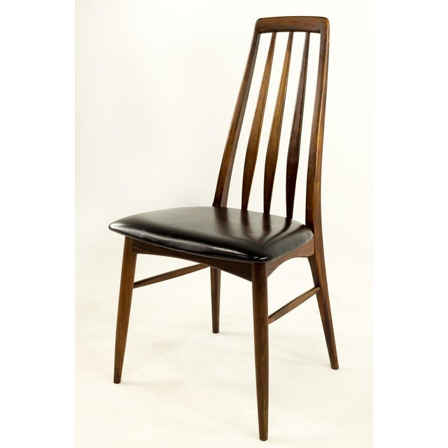 Mid-Century Modern Niels Koefoed Hornslet Rosewood Eva Dining Chairs - Set of 6 For Sale In Chicago - Image 6 of 12