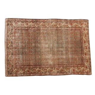 "Vintage Distressed Hamadan Rug - 4'3"" X 6'2"" For Sale"