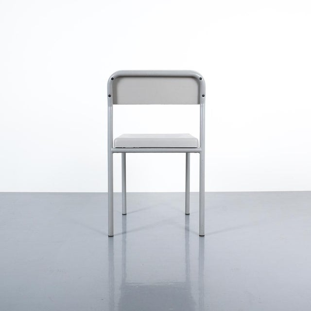 1980s One of Seven Ettore Sottsass Greek Chairs Grey Bieffeplast, Italy, 1980 For Sale - Image 5 of 13
