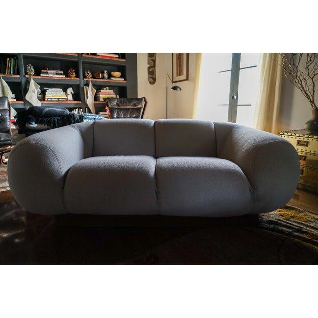 Tan 1970's Modern Italian Sofa For Sale - Image 8 of 10