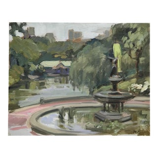 Bethesda Fountain Oil Painting For Sale