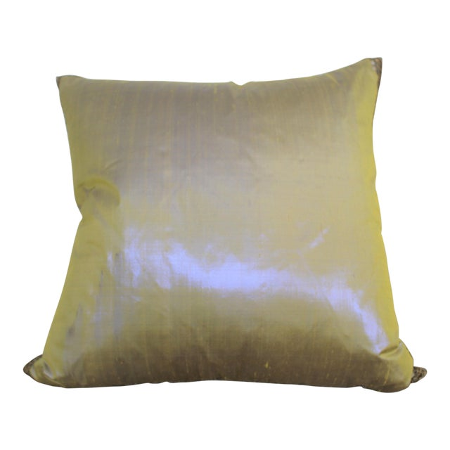 Isabelle H. Dual Color Metallic Silk Pillow - Image 1 of 7