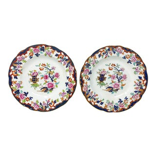 Antique Chinoiserie China Bowls - a Pair For Sale
