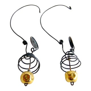 Margret Craver Withers Caged Wire Earrings For Sale