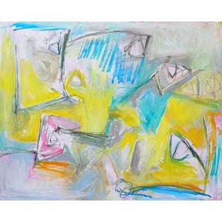 """""""One Fine Day"""" by Trixie Pitts Large Abstract Expressionist Oil Painting For Sale"""