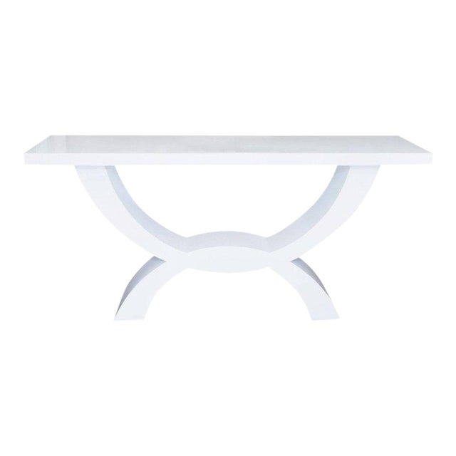 Custom Lacquered Console Table For Sale