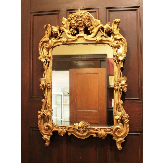 Gold C. 1850 European Rococo Gilt Mirror For Sale - Image 8 of 8