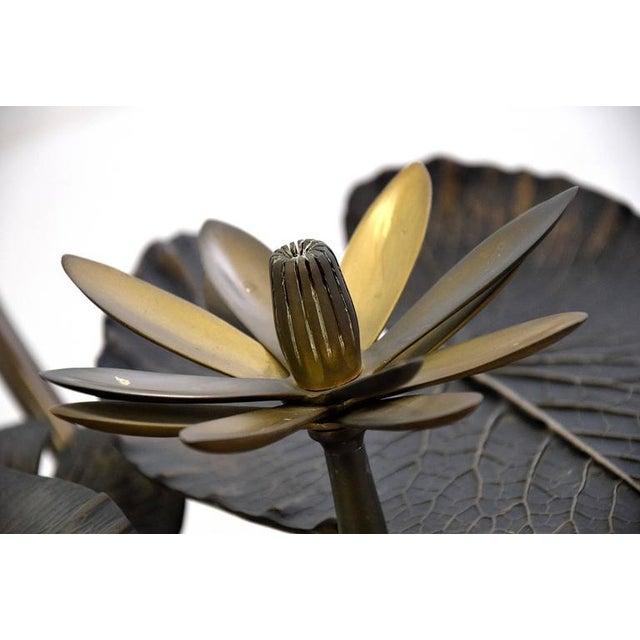 Stylish Mid-Century Modern Lotus Coffee Table - Image 4 of 11