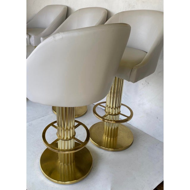 1980s Vintage Designs for Leisure Barstools - Set of 5 For Sale - Image 10 of 12