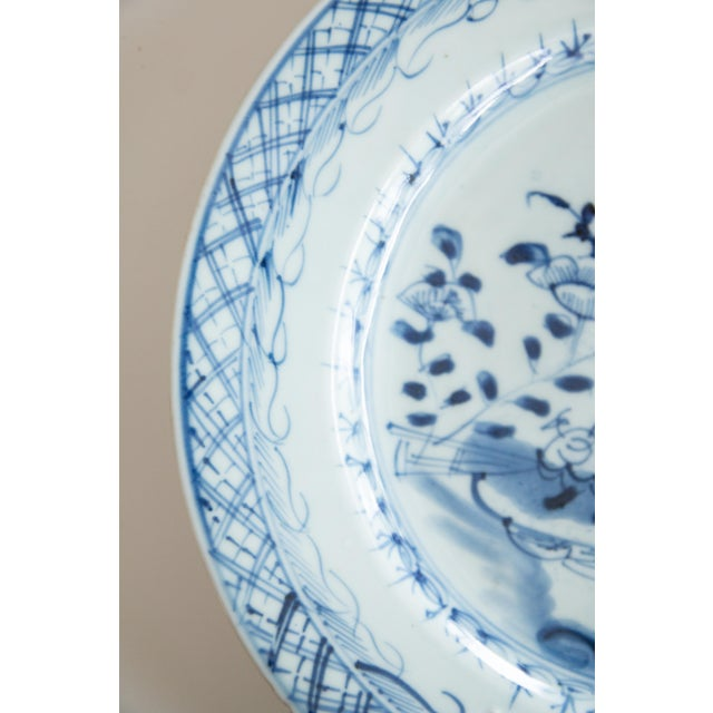 19th-Century Antique Delft Plate Staples Restoration For Sale - Image 4 of 7