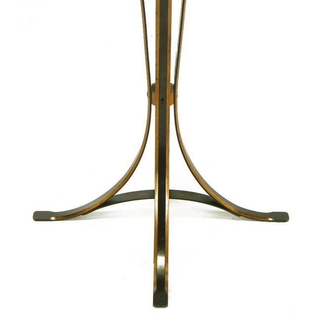 Gold Elegant 1930s Floor Lamp of Copper over Bronze Straps with Drop-Rings For Sale - Image 8 of 10