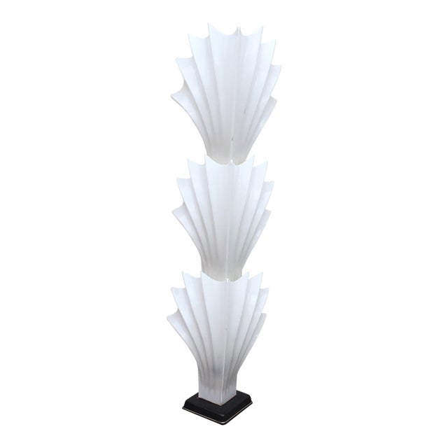 1970s Art Deco Rougier White Acrylic Floor Lamp - Image 1 of 11