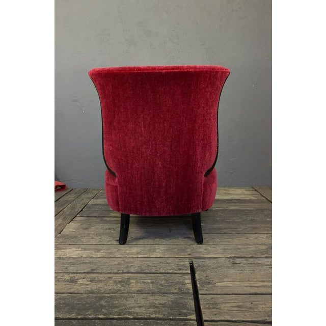 1950s American Mid-Century Scrolled Leg Slipper Chair For Sale - Image 5 of 11
