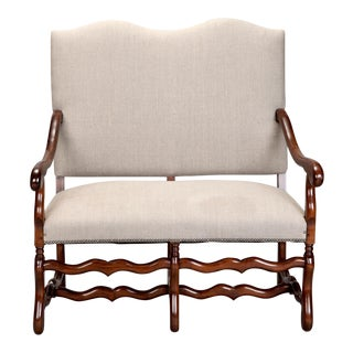 French Os De Mouton Settee c.1920 For Sale