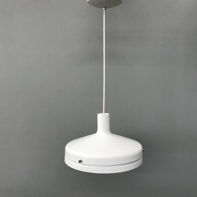 lightolier white pendant light chairish