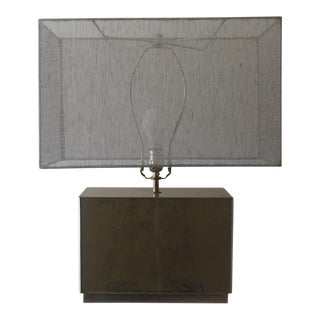 Reverse Antique Mirror Glass Lamp For Sale