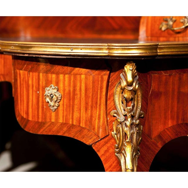 Krieger French Rococo Style Rosewood Writing Table For Sale - Image 5 of 9