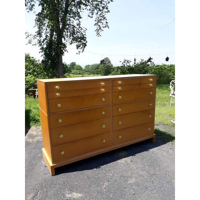 This is a rare 12 drawer chest designed by C G Kimerly for Widdicomb furniture in the 1940's. This is in very good all...