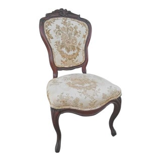 Victorian Carved Mahogany Side Chair, 1800s For Sale