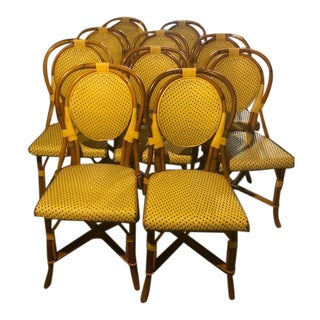 Maison Gatti Cafe Chairs - Set of 8 For Sale