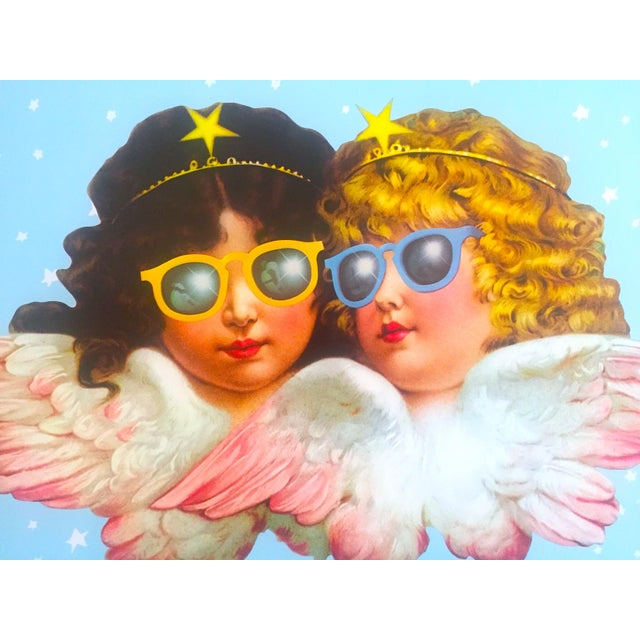Vintage 1980 Rare Fiorucci New Wave Italian Fashion Iconic Cherub Angels Post Modern Pop Art Poster For Sale In Kansas City - Image 6 of 9