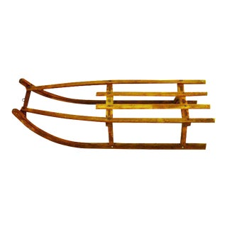Early Children's Wooden Sled