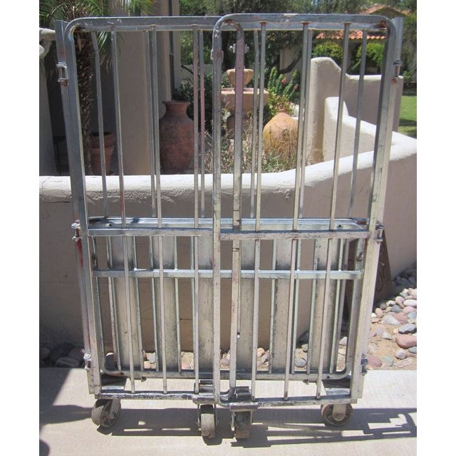 Industrial Rolling Freight Cart Garment Rack - Image 4 of 4