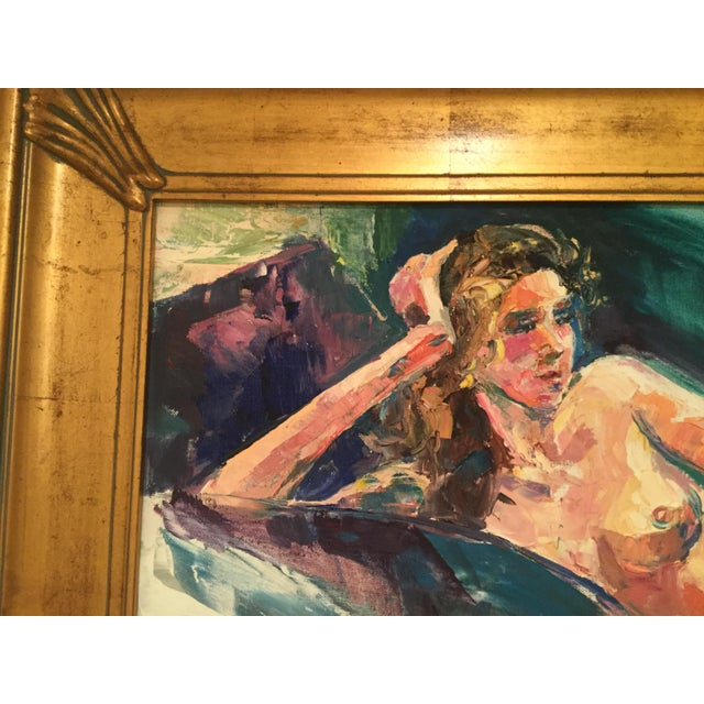 Contemporary Eugenia Foster Reclining Nude Oil Painting For Sale - Image 3 of 6