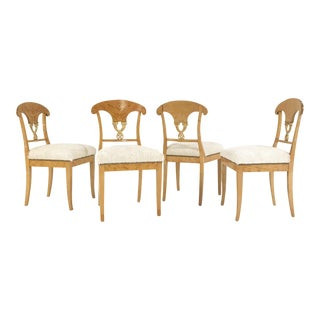 Circa 1820 Biedermeier Brazilian Cowhide Chairs - Set of 4 For Sale