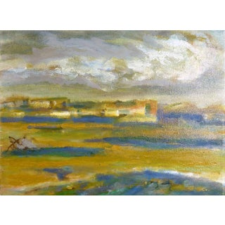 """Robert Vala """"Desert Landscape"""" Oil Painting For Sale"""