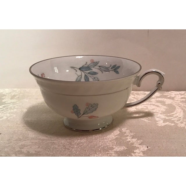 Mid-Century Bavarian China Cups & Saucers For Sale - Image 9 of 11