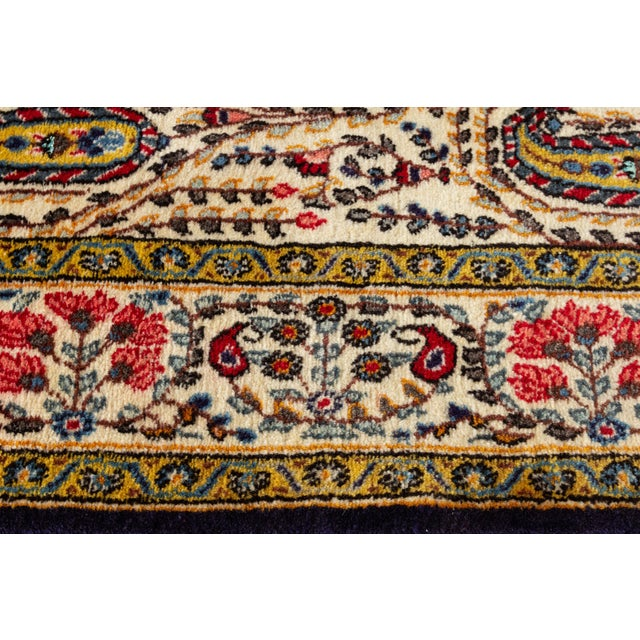 "Textile Vintage Persian Rug, 4'5"" X 7'0"" For Sale - Image 7 of 8"