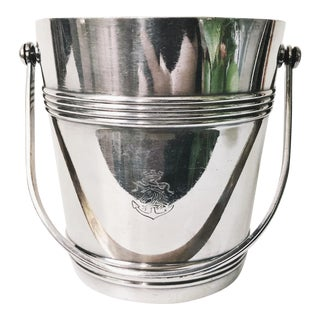 Vintage Christofle Silver Plate Ice Bucket From Compagnie Des Messageries Maritimes For Sale