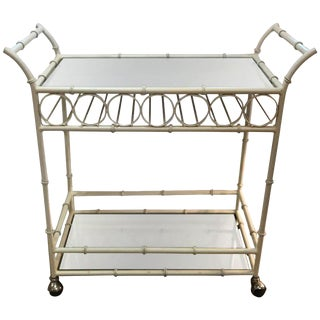 Mid-Century Modern Mirrored Bar Cart