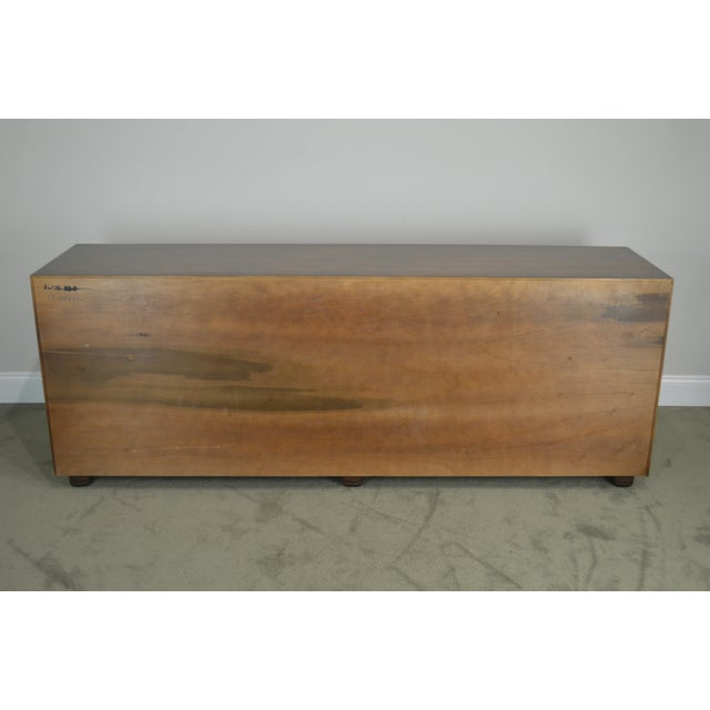 "1980s Henredon Folio Eleven 80"" Long Mahogany Asian Inspired Dresser W/ Butterfly Hardware For Sale - Image 5 of 13"