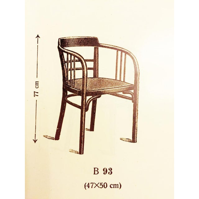 Beech armchair by Otto Wagner for Thonet, 1905 For Sale - Image 5 of 7