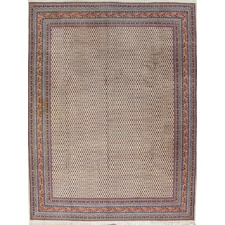 "Vintage Persian Saraband Hand Woven Carpet, 9'10"" X 12'6"" For Sale"