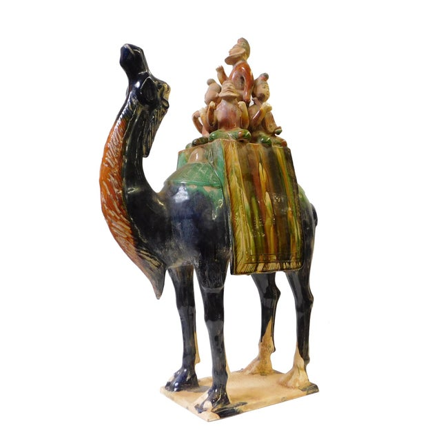 Asian Chinese Pottery Clay Ancient Style Camel Figure For Sale - Image 3 of 7