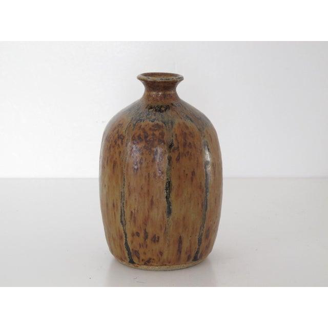 Amber Drip Glazed Ceramic Vase - Image 4 of 5