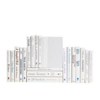 Modern White With Copper & Cobalt Accents : Set of Twenty Decorative Books