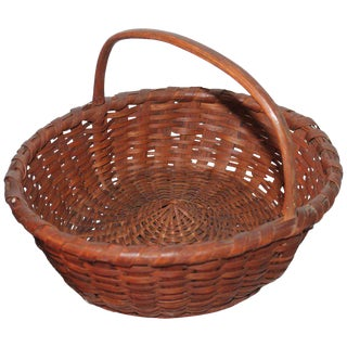 19th Century Early Basket With Kick Up Base For Sale